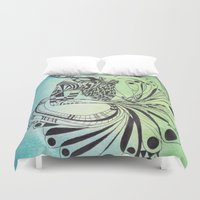 pisces Duvet Covers featuring Pisces by Heaven7