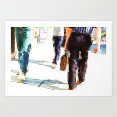 City Strides Art Print
