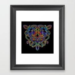 Rainbow 3-D Doodle Framed Art Print