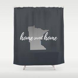 Minnesota Home Sweet Home Grey Shower Curtain