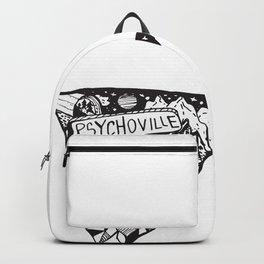 Psychoville black ink drawing Backpack