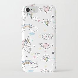 Unicorns & Rainbows iPhone Case