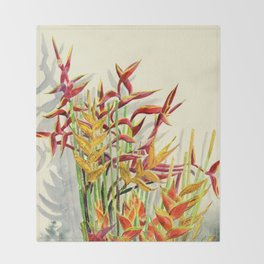 Heliconia Bouquet Throw Blanket
