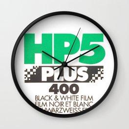 B&W film print Wall Clock