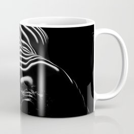 0686-AR BW Contemporary Art Nude Large Woman BBW Graceful and Strong Coffee Mug