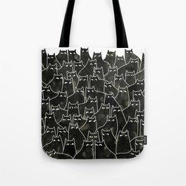 Suspicious Cats Tote Bag