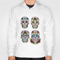 sugar skulls Hoodies featuring Sugar skulls by very giorgious