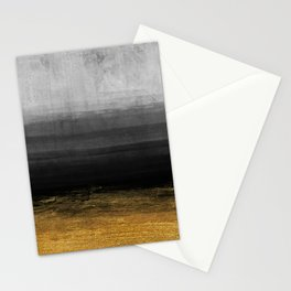 Black and Gold grunge stripes on modern grey concrete abstract background - Stripe -Striped Stationery Cards
