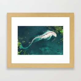The Mermaids and the white dragon Framed Art Print