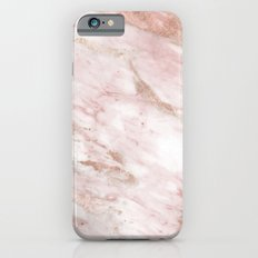 Pink marble - rose gold accents Slim Case iPhone 6s