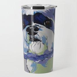 Shih Tzu Pop Art Pet Portrait Travel Mug