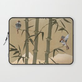Sparrows And Bamboo Laptop Sleeve