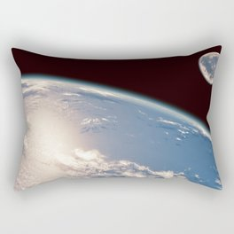 Earth and Moon Rectangular Pillow