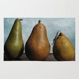 Three Pears - Still Life Rug