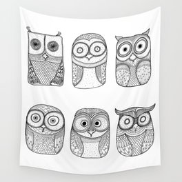 Six Pack (owl collective) Wall Tapestry
