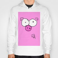 pig Hoodies featuring Pig by Frances Roughton