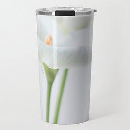 White Lily Travel Mug