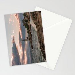 Annisquam Lighthouse sunset Stationery Cards