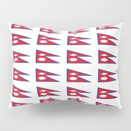Flag of nepal - Nepali, नेपाल,nepalese,Everest,Kathmandu,Bhojpuri Pillow Sham