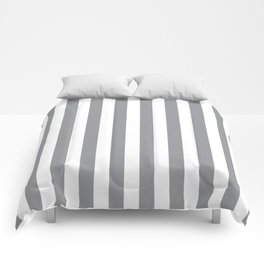 Vertical Grey Stripes Comforters