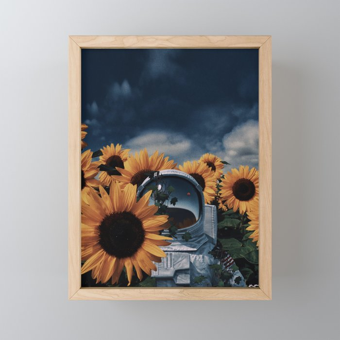 i'm just a passenger here. Framed Mini Art Print