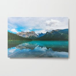 The Mountains and Blue Water - Nature Photography Metal Print