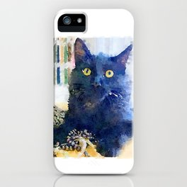Alfred Watercolor iPhone Case