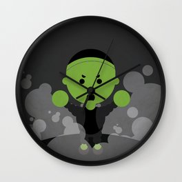Frankenstien in 103 dots Wall Clock