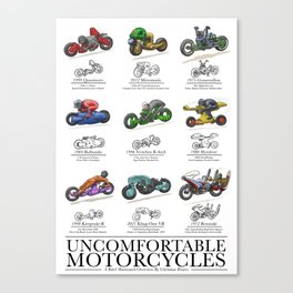 Uncomfortable Motorcycles Canvas Print