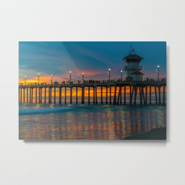 Huntington Water Color Metal Print