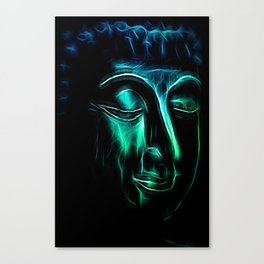 Buddha Face two Canvas Print
