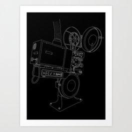 Reel Projector Art Print