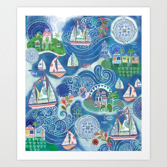 Dream Boats Art Print