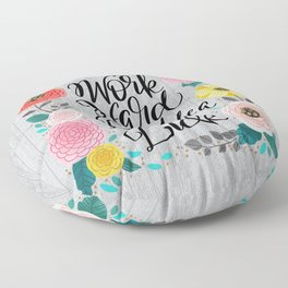 Pretty Swe*ry 2.0: Work Hard and Don't Be A Dick Floor Pillow
