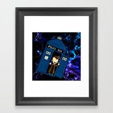 Tardis in space Doctor Who 10 Framed Art Print