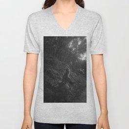 Girl in forest  Unisex V-Neck