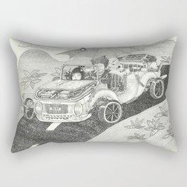 Doot car with women, character, and umbrella, driving Rectangular Pillow