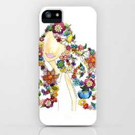 Flower Girl One iPhone Case