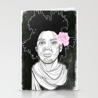 basquiat Stationery Cards featuring Basquiat by DonCarlos