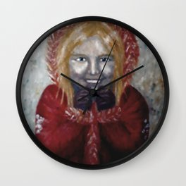 Cosy Winter Wall Clock