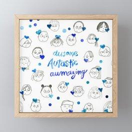 Autism Love Framed Mini Art Print