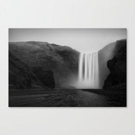 Iceland, Skogafoss waterfall Canvas Print
