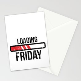 Funny Weekend Design, Loading Friday Humor Workplace design Stationery Cards