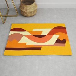 SUISSE - Art Deco Modern: AUTUMN ORANGE Rug
