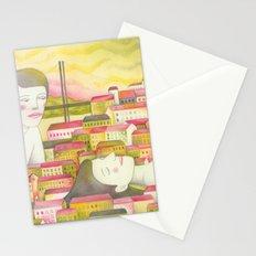 Filles en ville Stationery Cards