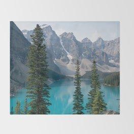 Moraine Lake - Trees Throw Blanket
