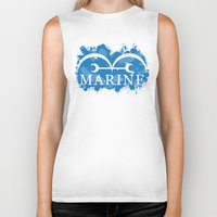 marine Biker Tanks featuring Marine by rKrovs