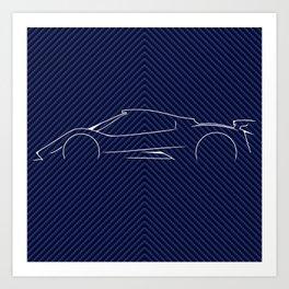 PAGANI ZONDA - Carbo Fiber vaiant Art Print