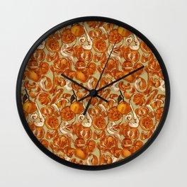 Mandarins Wall Clock