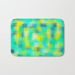 green blue and yellow plaid pattern Bath Mat